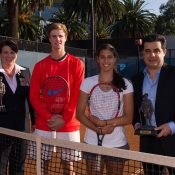 (L-R) Anne Pahl, Blake Ellis, Jaimee Fourlis and Umit Oraloglu; photo credit Tennis Australia/Elizabeth Xue Bai