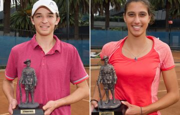 Matthew Romios (L) and Jaimee Fourlis were champions at the 2016 Gallipoli Youth Cup at Melbourne Park; Elizabeth Xue Bai