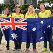 The Aussie team is ready to do battle. Photo: Getty Images