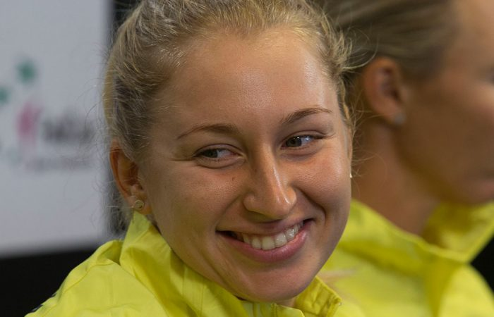 Daria Gavrilova will open the Fed Cup tie v the USA. Photo:  AMN Images