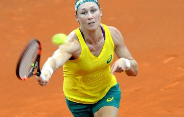 Sam Stosur was beaten by Coco Vandeweghe in three tight sets. Photo: Getty Images