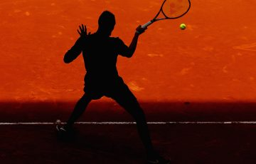 Nick Kyrgios in action during his second-round win over Stan Wawrinka at the Mutua Madrid Open; Getty Images