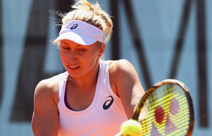 Daria Gavrilova in action at the Mutua Madrid Open; Getty Images