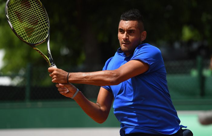 Nick Kyrgios in action at Roland Garros; Getty Images