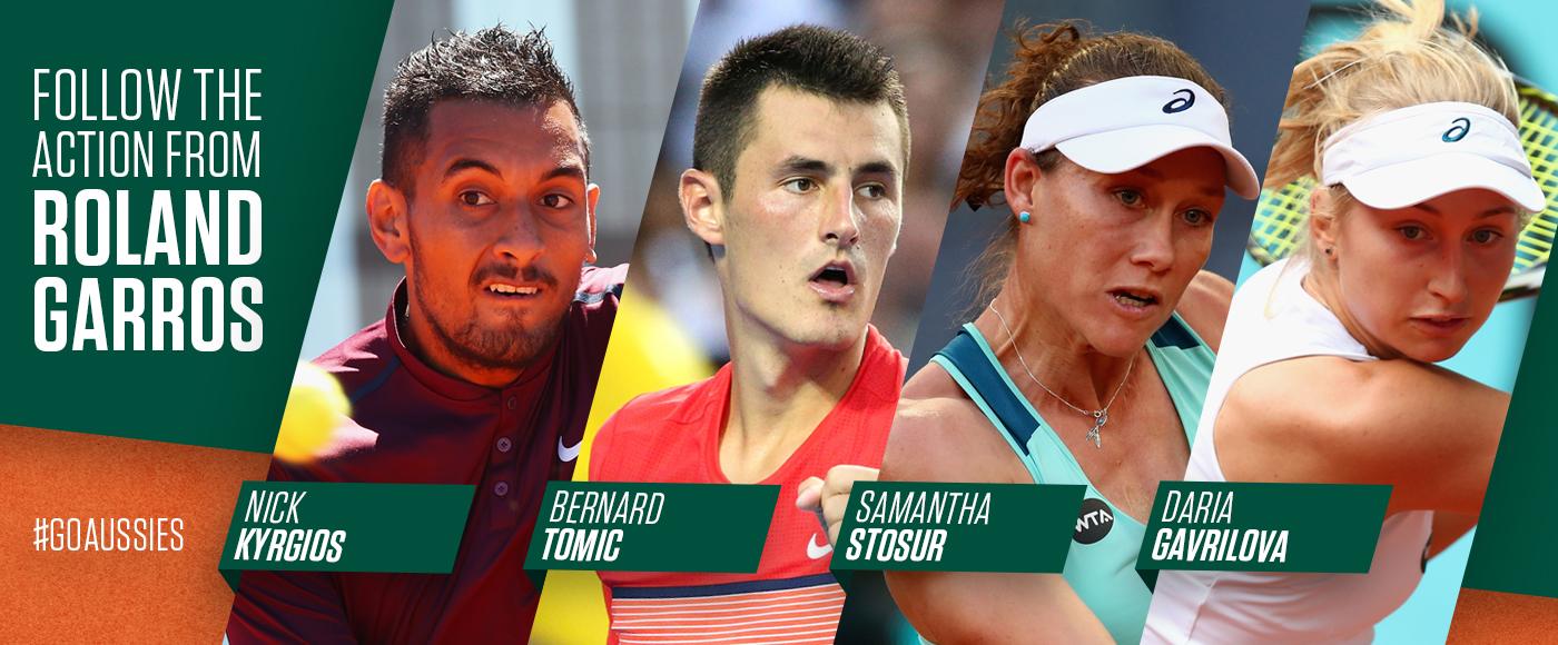 Follow Roland Garros on tennis.com.au