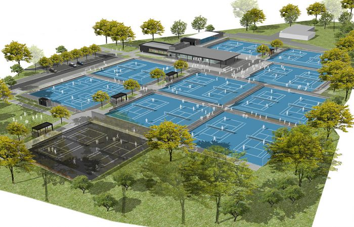 An artist's impression of the Playford City Tennis Centre