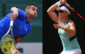 Nick Kyrgios (L) and Sam Stosur have advanced to the third round at Roland Garros; Getty Images