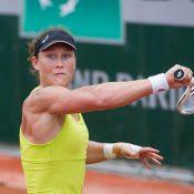 Sam Stosur trains at Roland Garros; Elizabeth Xue Bai