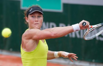 Sam Stosur trains at Roland Garros; Elizabeth Xue Bai