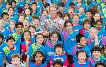 Alicia Molik marked the announcement by joining students at Mount Waverley Primary School in Victoria