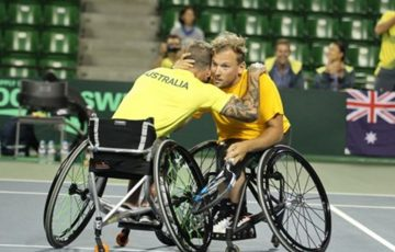 Dylan Alcott and Heath Davidson have won the BNP Paribas World Team Cup. Photo: Ando Akira / ITF