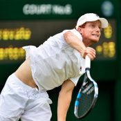 Matt Barton produced the biggest result of his career to qualify for the main draw at Wimbledon; Getty Images