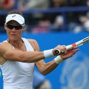 Sam Stosur's sole grasscourt outing was a 6-2 6-1 loss to Caroline Wozniacki in her opening match at the Aegon International Eastbourne; Getty Images