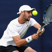 Jordan Thompson bowed out in the first round of the ATP event in Nottingham to Benjamin Becker; Getty Images