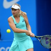 Daria Gavrilova pushed world No.4 Angelique Kerber to three sets in the second round of the Aegon Classic in Birmingham; Getty Images