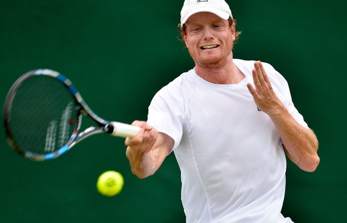 Matt Barton in action during the Wimbledon qualifying event at Roehampton; Getty Images