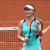 Sam Stosur celebrates her quarterfinal victory over Tsvetana Pironkova at Roland Garros; Getty Images