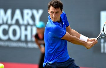 Bernard Tomic in action at the ATP Ricoh Open; photo credit/©Edwin Verhoef