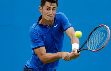 Bernard Tomic in action at Queen's; Getty Images