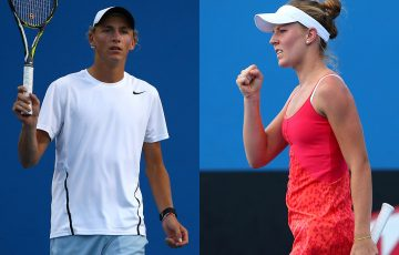 Max Purcell (L) and Olivia Rogowska; Getty Images