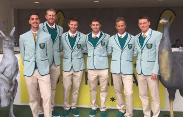 The Australian men's tennis team of (L-R) Thanasi Kokkiankis, Chris Guccione, John Peers, Jordan Thompson, Mark Draper and John Millman ahead of the Rio 2016 Olympics; photo courtesy @johnhmillman