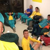 The Australian men's tennis team relaxes ahead of the Rio 2016 Olympics; photo courtesy @SamGrothTennis