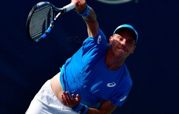 James Duckworth in action at the Winston-Salem Open; Getty Images