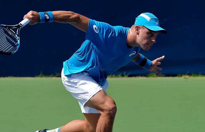 James Duckworth in action at the ATP Winston-Salem Open; Getty Images