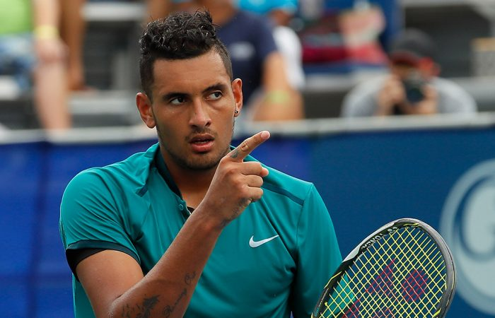 Nick Kyrgios in action in Atlanta, where he won his second ATP title; Getty Images