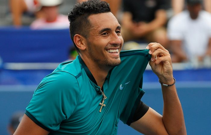 Nick Kyrgios in action during the US Open Series; Getty Images