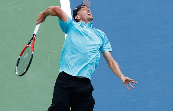 John Millman in action at the Cincinnati Masters; Getty Images