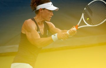 Sam Stosur in action at the WTA event in Washington DC; Getty Images