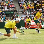 Groth and Peers in action. Photo: Getty Images