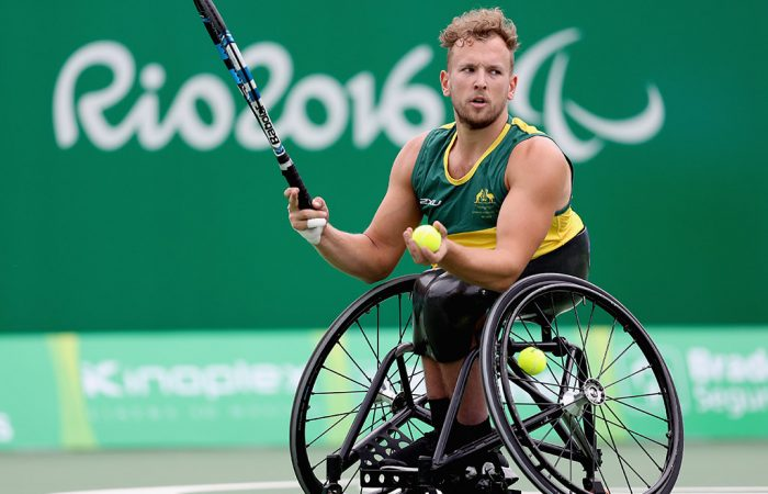 Dylan Alcott was in commanding form in his opening-round victory at the Rio Paralympics; Getty Images