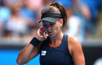 Casey Dellacqua in action at Australian Open 2015; Getty Images