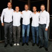 The Slovakian Davis Cup squad at the official team dinner; Getty Images