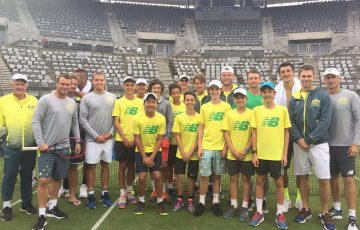 Australia's Davis Cup squad met with junior camp participants in Sydney; Tennis Australia