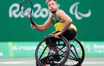 Dylan Alcott in action at the Rio 2016 Paralympics; Getty Images