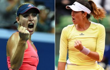 Angelique Kerber (L) and Garbine Muguruza will headline the women's field at Brisbane International 2017; Getty Images