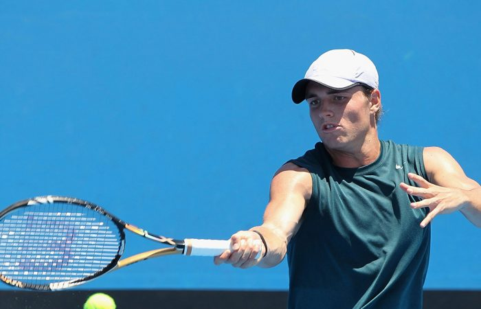 Christopher O'Connell in action at the Australian Open 2015 Play-off; Getty Images