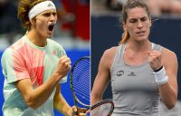 Alexander Zverev (L) and Andrea Petkovic will represent Germany at the Hopman Cup in 2017; Getty Images