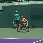 Heath Davidson prepares for the Rio Paralympics at a training camp in Miami; Tennis Australia