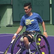 Sarah Calati prepares for the Rio Paralympics at a training camp in Miami; Tennis Australia