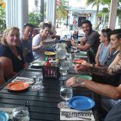 The Australian wheelchair team lunch in Miami ahead of the Rio Paralympics; Tennis Australia
