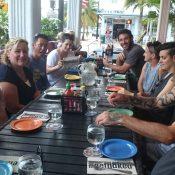 The Australian wheelchair team lunch in Miami ahead of the Rio Paralympics; Tennis Australia