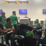 Members of the Australian wheelchair tennis team at the airport, bound for the Rio Paralympics; Tennis Australia