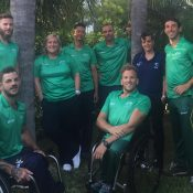 The Australian wheelchair tennis team in Miami; Tennis Australia