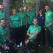 The Australian wheelchair tennis team in Miami; Tennis Australia