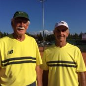 75+ Bronze Mens Doubles, Don Biddle (L) and Gordon Waygood