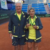 80+ Gold Mixed Doubles, Norm Richardson (L) and Joyce Rogers